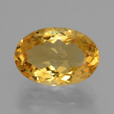 thumb image of 6ct Oval Facet Yellow Golden Citrine (ID: 428352)