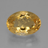 thumb image of 5.6ct Oval Facet Yellow Golden Citrine (ID: 428388)