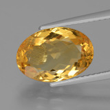 thumb image of 3.7ct Oval Facet Yellow Golden Citrine (ID: 428672)