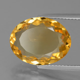 6.05 ct Oval Facet Yellow Golden Citrine Gem 15.29 mm x 11.1 mm (Photo B)