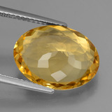 6.05 ct Oval Facet Yellow Golden Citrine Gem 15.29 mm x 11.1 mm (Photo C)