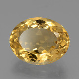 7.80 ct Oval Facet Yellow Golden Citrine Gem 14.87 mm x 11.8 mm (Photo B)