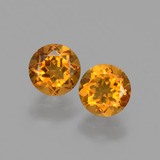 thumb image of 0.9ct Round Facet Yellow Golden Citrine (ID: 428940)