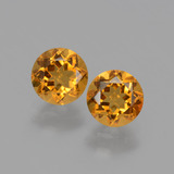 thumb image of 0.9ct Round Facet Yellow Golden Citrine (ID: 428944)