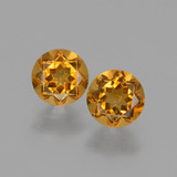 thumb image of 0.9ct Round Facet Yellow Golden Citrine (ID: 428951)