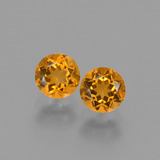 thumb image of 0.9ct Round Facet Yellow Golden Citrine (ID: 428998)