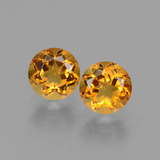 thumb image of 1ct Round Facet Yellow Golden Citrine (ID: 429170)