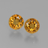 thumb image of 0.9ct Round Facet Yellow Golden Citrine (ID: 429407)