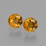 thumb image of 0.9ct Round Facet Yellow Golden Citrine (ID: 429515)