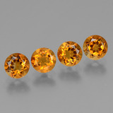 thumb image of 1.9ct Round Facet Yellow Golden Citrine (ID: 429575)