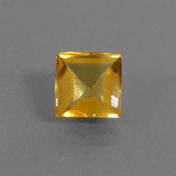 thumb image of 2.4ct Square Buff-Top Yellow Golden Citrine (ID: 434681)