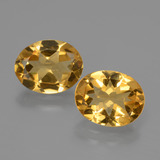 thumb image of 4.2ct Oval Facet Yellow Golden Citrine (ID: 435440)