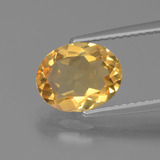 thumb image of 1.9ct Oval Facet Yellow Golden Citrine (ID: 435661)