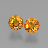 thumb image of 1ct Round Facet Yellow Golden Citrine (ID: 440821)