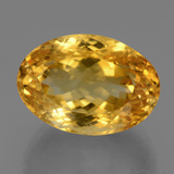 thumb image of 19.7ct Oval Facet Yellow Golden Citrine (ID: 443681)