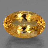 thumb image of 12.8ct Oval Facet Yellow Golden Citrine (ID: 443760)