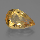 thumb image of 5.1ct Pear Facet Yellow Golden Citrine (ID: 445083)