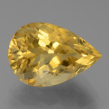 thumb image of 6.3ct Pear Facet Yellow Golden Citrine (ID: 445295)