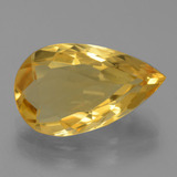 thumb image of 4.7ct Pear Facet Yellow Golden Citrine (ID: 445296)