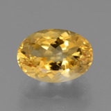 thumb image of 3.7ct Ovale facette Jaune doré Citrine (ID: 445741)