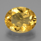 thumb image of 8.1ct Oval Facet Yellow Golden Citrine (ID: 445973)