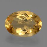 thumb image of 6.3ct Oval Facet Yellow Golden Citrine (ID: 446024)