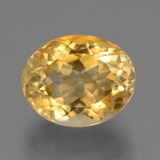 thumb image of 6.1ct Oval Facet Yellow Golden Citrine (ID: 446099)