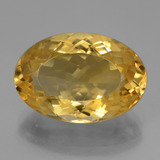 thumb image of 10.7ct Oval Facet Yellow Golden Citrine (ID: 446381)