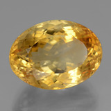 18.16 ct وجه بيضاوى Deep Golden Orange سيترين حجر كريم 19.10 mm x 14.1 mm (صورة B)
