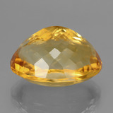 18.16 ct وجه بيضاوى Deep Golden Orange سيترين حجر كريم 19.10 mm x 14.1 mm (صورة C)