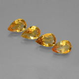 thumb image of 3.9ct Pear Facet Yellow Golden Citrine (ID: 446784)
