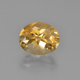 thumb image of 2.5ct Oval Facet Yellow Golden Citrine (ID: 449742)