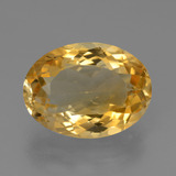 thumb image of 7.4ct Oval Facet Yellow Golden Citrine (ID: 450656)