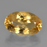 thumb image of 6.5ct Oval Facet Yellow Golden Citrine (ID: 450779)