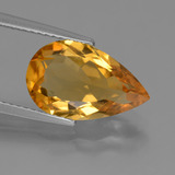 thumb image of 3.6ct Pear Facet Yellow Golden Citrine (ID: 453631)