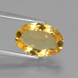 thumb image of 3.2ct Oval Facet Yellow Golden Citrine (ID: 453776)