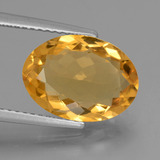 thumb image of 3.8ct Oval Facet Yellow Golden Citrine (ID: 453887)