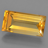 thumb image of 4.3ct Baguette Facet Deep Golden Orange Citrine (ID: 455783)