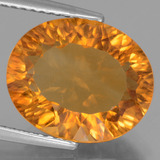 thumb image of 4.9ct Oval Concave Cut Yellow Golden Citrine (ID: 456886)