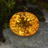 thumb image of 5.3ct Oval Concave Cut Yellow Golden Citrine (ID: 456888)