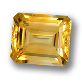 thumb image of 10.2ct Octagon Step Cut Yellow Golden Citrine (ID: 459793)
