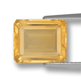 thumb image of 4.4ct Octagon Step Cut Yellow Golden Citrine (ID: 459887)