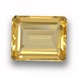 thumb image of 4.1ct Octagon Step Cut Yellow Golden Citrine (ID: 459937)