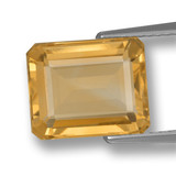 thumb image of 4.3ct Octagon Step Cut Yellow Golden Citrine (ID: 459951)