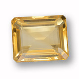 thumb image of 4.4ct Octagon Step Cut Yellow Golden Citrine (ID: 459975)