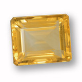 thumb image of 5.4ct Octagon Step Cut Yellow Golden Citrine (ID: 459976)