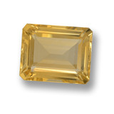thumb image of 4.2ct Octagon Step Cut Yellow Golden Citrine (ID: 459985)