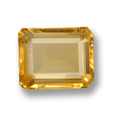 thumb image of 4.1ct Octagon Step Cut Yellow Golden Citrine (ID: 460001)