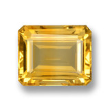 thumb image of 4.2ct Octagon Step Cut Yellow Golden Citrine (ID: 460010)