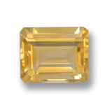 thumb image of 4.2ct Octagon Step Cut Yellow Golden Citrine (ID: 460024)